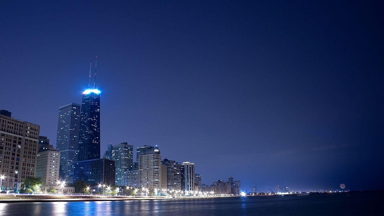 Фото бесплатно вечер, здания, высокие - на рабочий стол