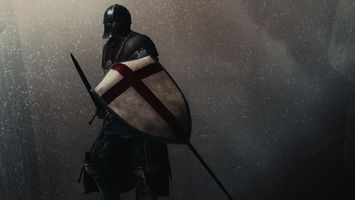 Бесплатные фото воин,рыцарь,шлем,щит,меч,снег,разное
