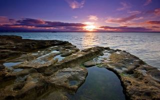 Фото бесплатно морской закат, солнце, за горизонт