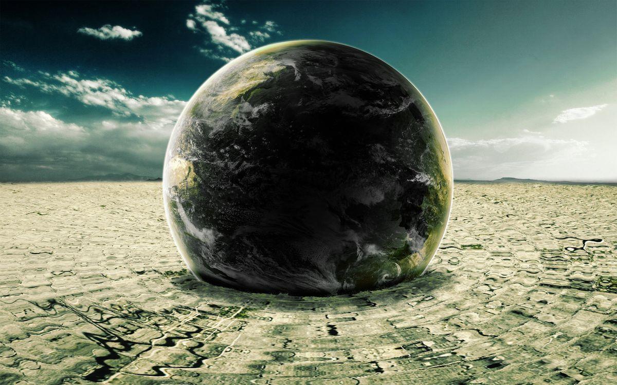 Фото бесплатно планета, столкновение, с планетой, ударная волна, дрожь земли, фантастика, фантастика - скачать на рабочий стол