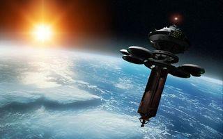 Бесплатные фото спутник,планета,земля,солнце,орбита,космос