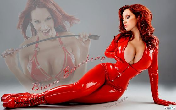Photo free bianca beauchamp, in red, leather