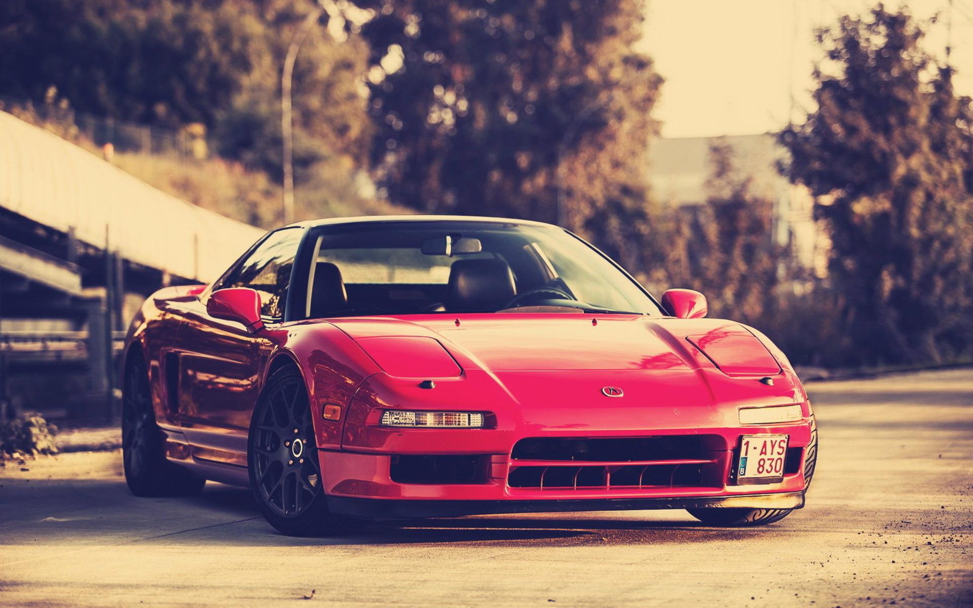 красный автомобиль honda скачать