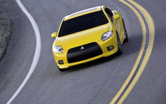 Photo free car, yellow, race