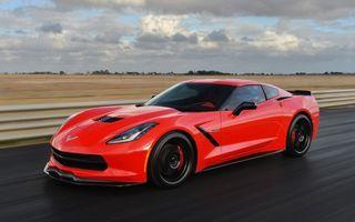 Фото бесплатно corvette, оранжевый, дорога