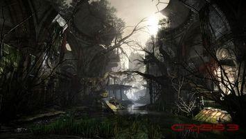 Бесплатные фото crysis 3, руины, снимок, геймплей, здание, купол, болото