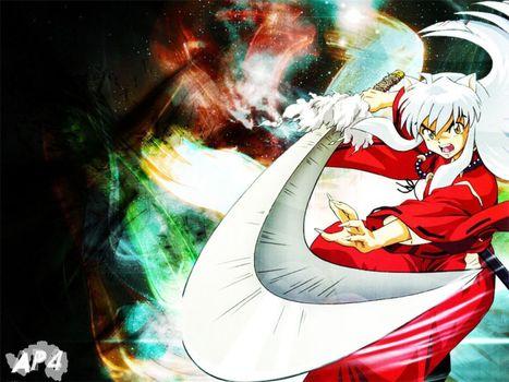 Photo free sword, red, inuyasha