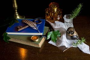 Photo free books, candle, owl