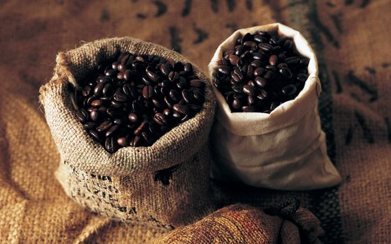 Photo free coffee, grain, bags