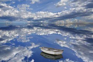 Бесплатные фото море,вода,лодка,небо,голубое,облака,природа