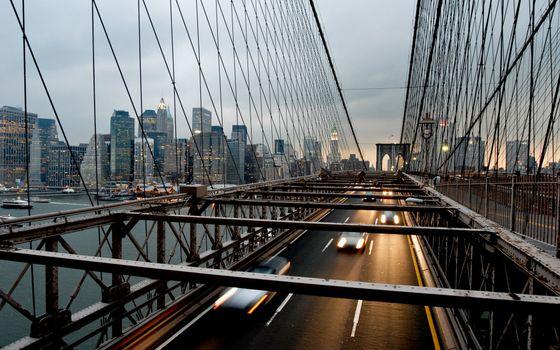 Фото бесплатно мост, автомобильный, машины