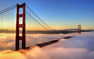Бесплатные фото мост,подвесной,золотые ворота,америка,восход,солнца,туман