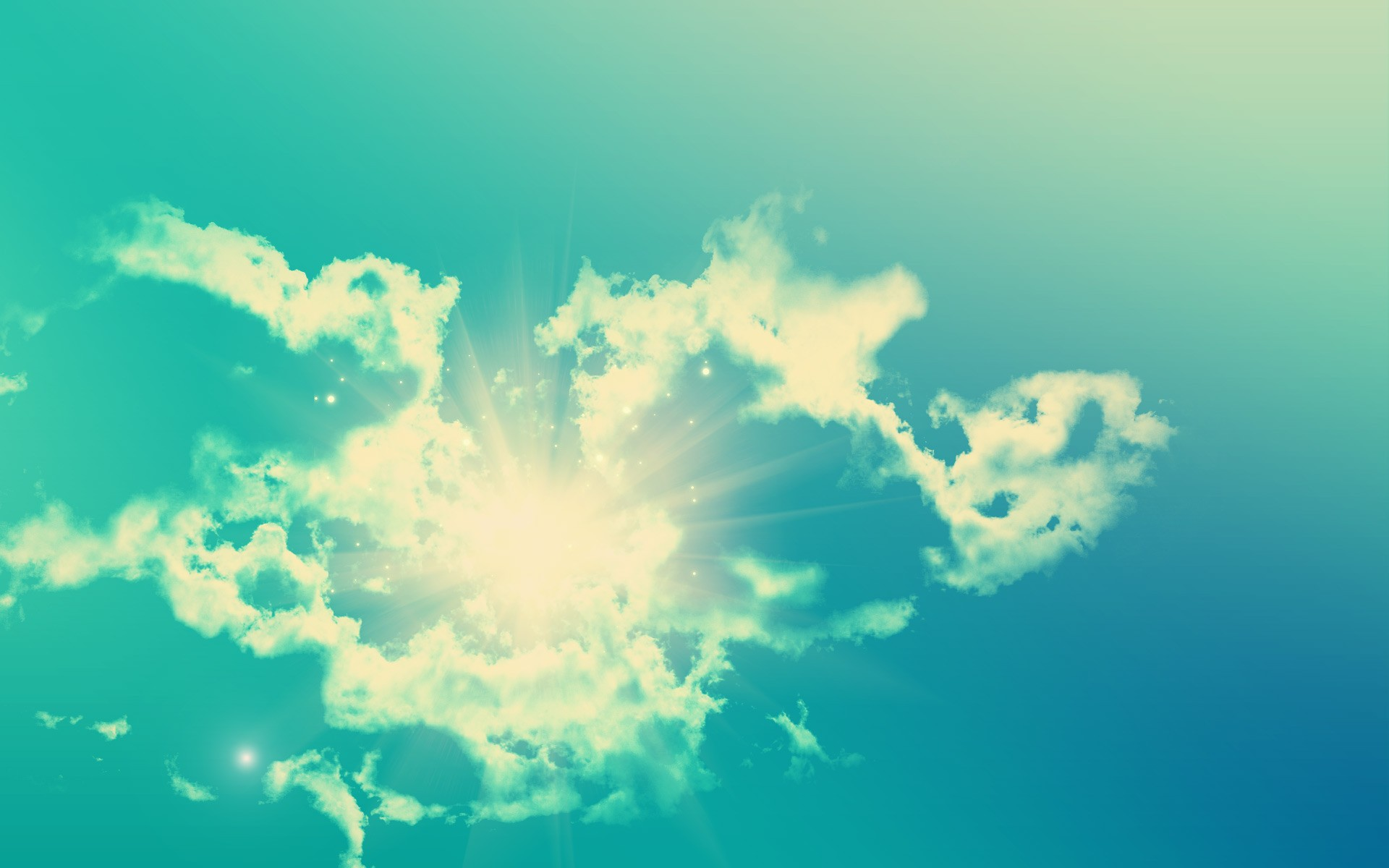 Солнце в облаках загрузить