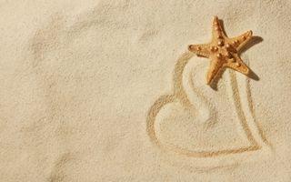 Фото бесплатно песок, звезда, сердце