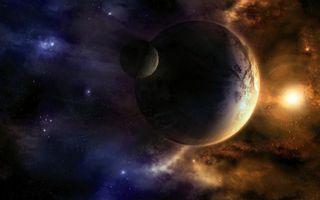 Бесплатные фото планеты,звезды,солнце,туман,лучи,красиво,космос