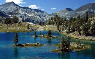 Photo free nature, mountains, mountain lake