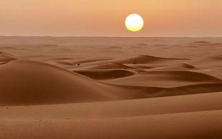 Фото бесплатно пустыня, песок, дюны, барханы, небо, закат, солнце, природа, пейзажи