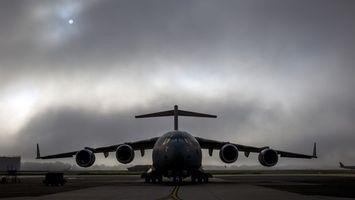Фото бесплатно самолет, крылья, турбины