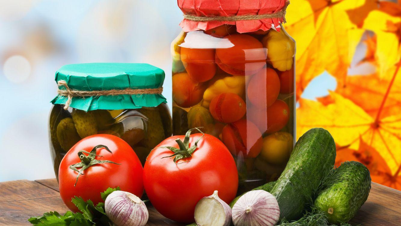 Фото бесплатно соленья, овощи, огурцы - на рабочий стол