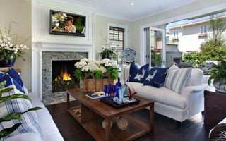 Бесплатные фото стол,камин,диван,картина,цветы,букет,кресло