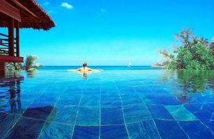 Фото бесплатно разное, тропики, бассейн