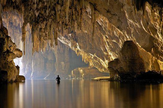 Заставки вьетнам, пещера, вода