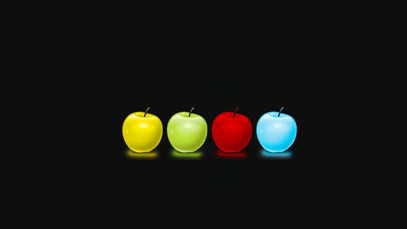 Фото бесплатно яблоки, фон, черный - на рабочий стол