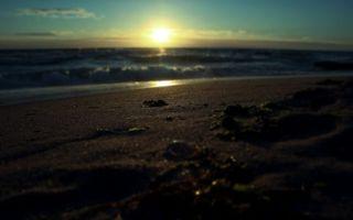 Фото бесплатно волны, закат, пейзажи