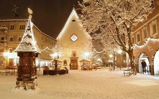 Бесплатные фото зима,снег,мороз,человек,зонт,дома,антенна