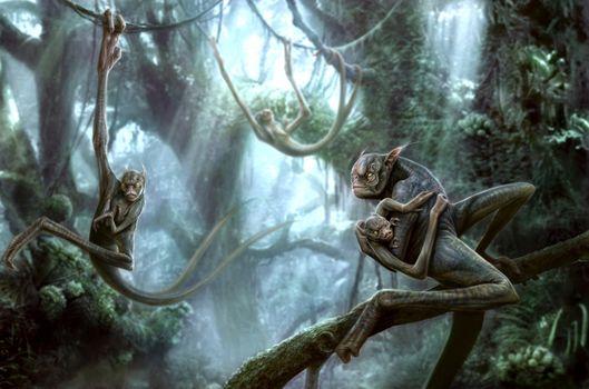 Фото бесплатно существа, лес, kenbarthelmey