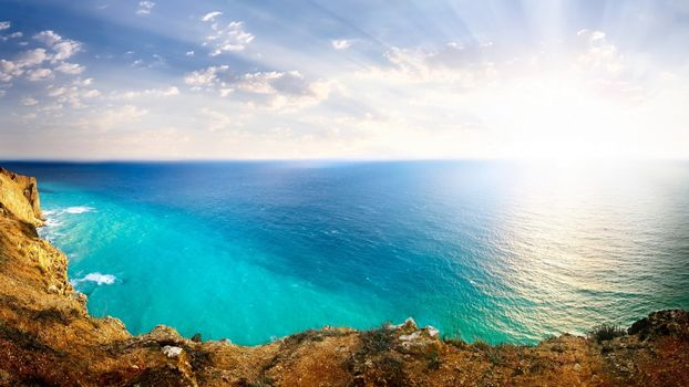 Фото бесплатно океан, берег, обрыв