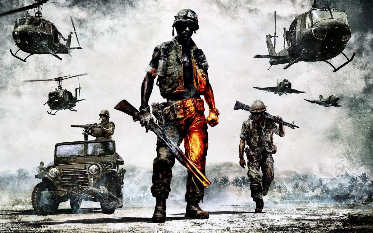 Фото бесплатно battlefield: bad company ii, вооружённая пехота и авиация, солдаты - на рабочий стол