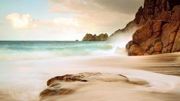 Фото бесплатно берег, набережная, пена