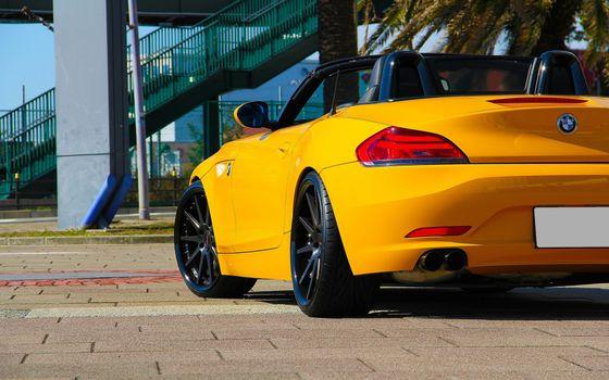 Бесплатные фото bmw,ярко-жёлтое,кабриолет,машины