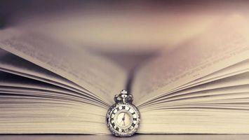 Фото бесплатно часы, циферблат, книга