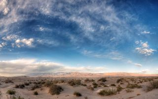 Заставки долина,песок,трава,горизонт,горы,небо
