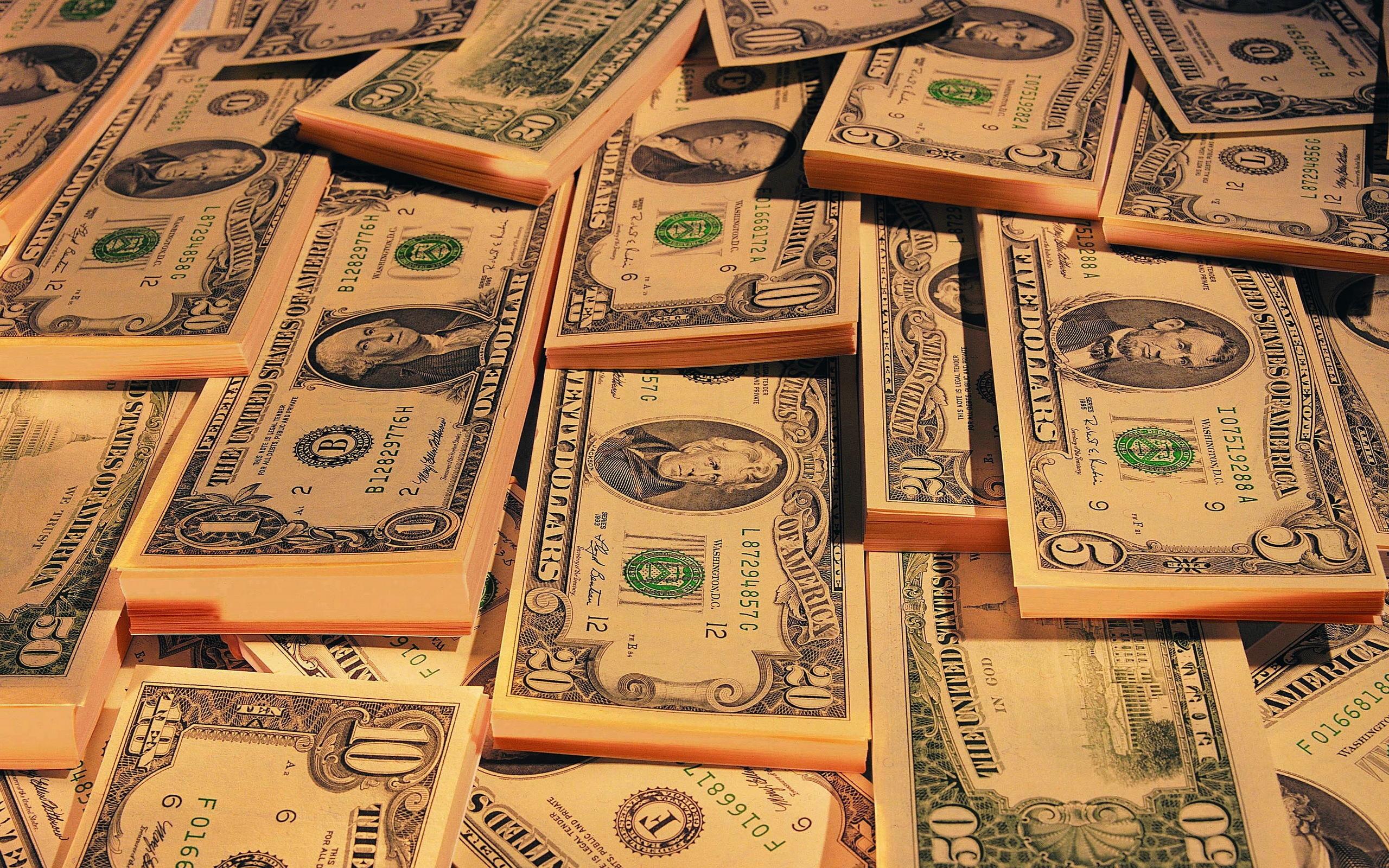 обои доллары, банкноты, купюры, пачки картинки фото