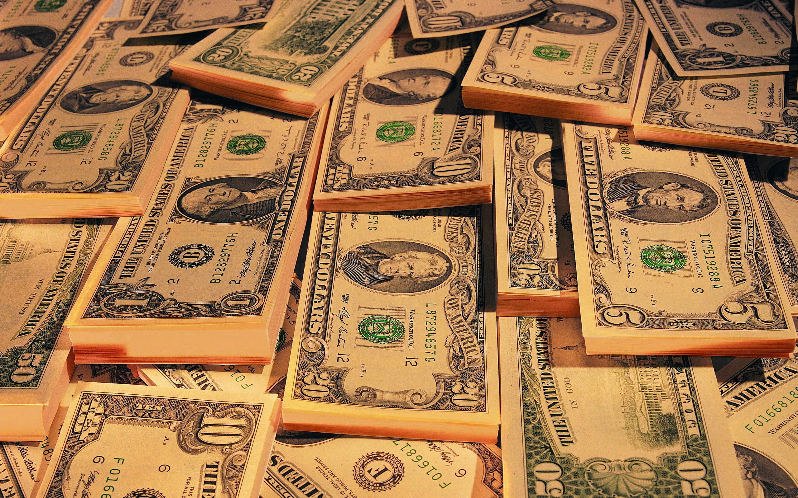 Обои доллары, банкноты, купюры, пачки