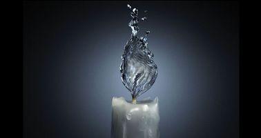 Фото бесплатно свечка, вода, вместо огня