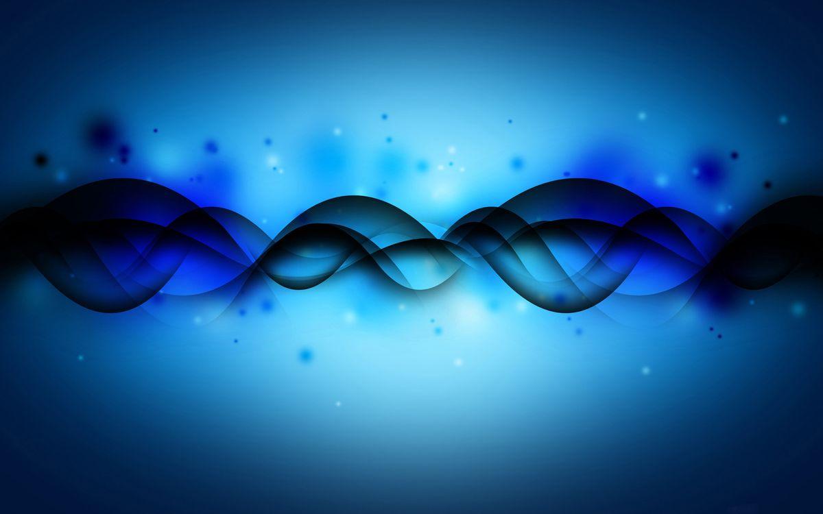 Фото бесплатно абстракция, волны, синий фон - на рабочий стол