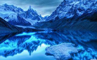 Заставки горы, вода, отражение