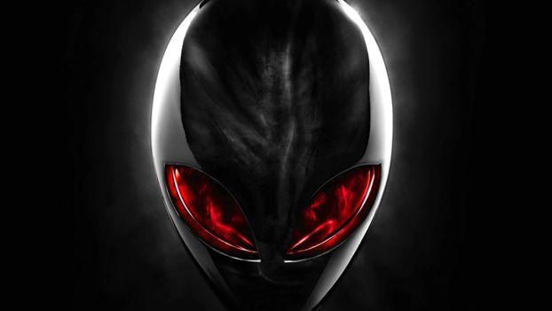Фото бесплатно инопланетянин, красные, глаза