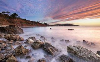 Бесплатные фото камни, туман, вода, берег, небо, облака, природа