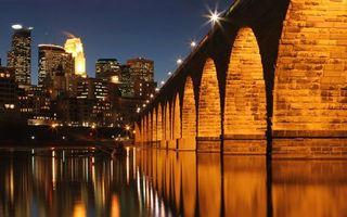 Фото бесплатно город, дорога, река