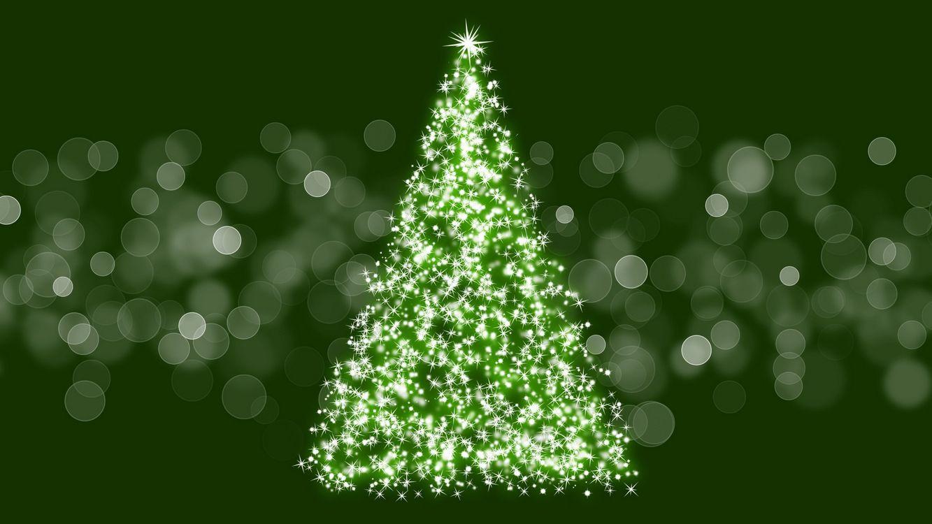 Фото бесплатно новогодняя елка, блики, блеск - на рабочий стол