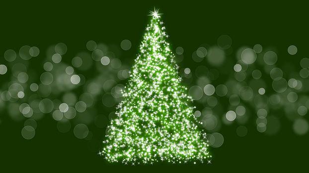 Фото бесплатно новогодняя елка, блики, блеск