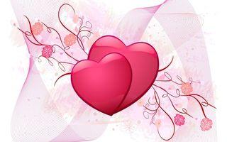 Бесплатные фото рисунок,сердца,розовые,узоры,цветы,лента,разное