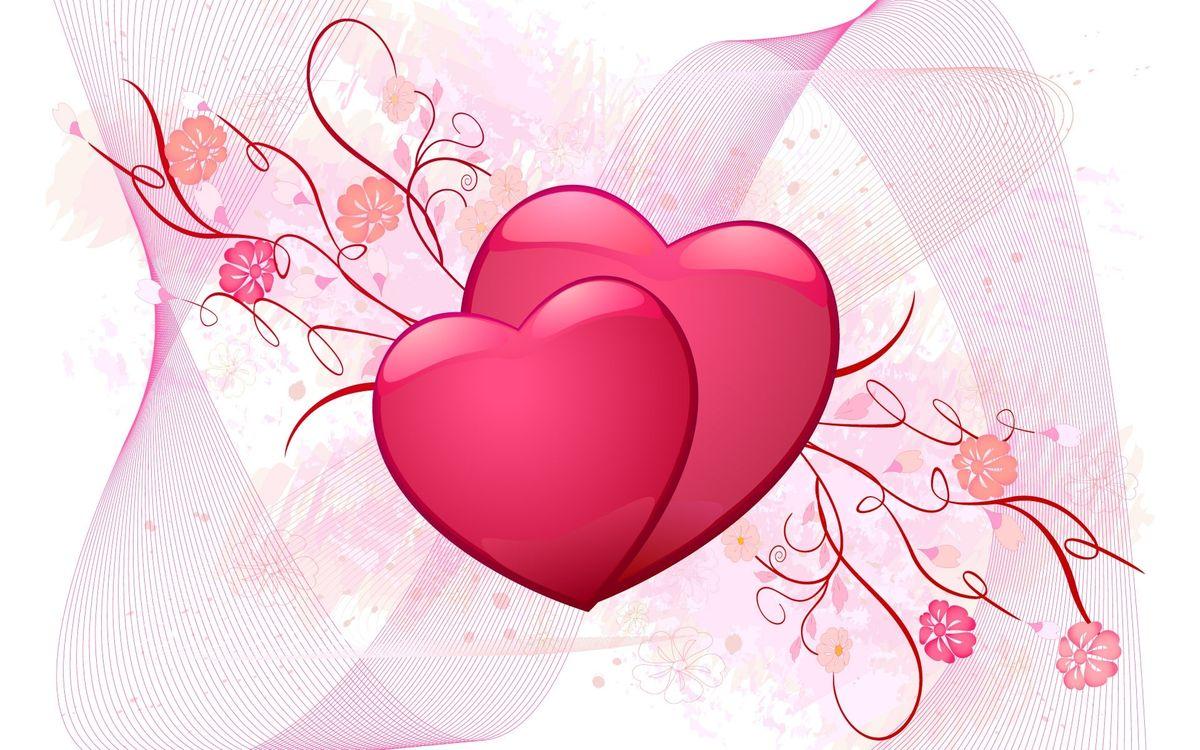 Фото бесплатно рисунок, сердца, розовые - на рабочий стол