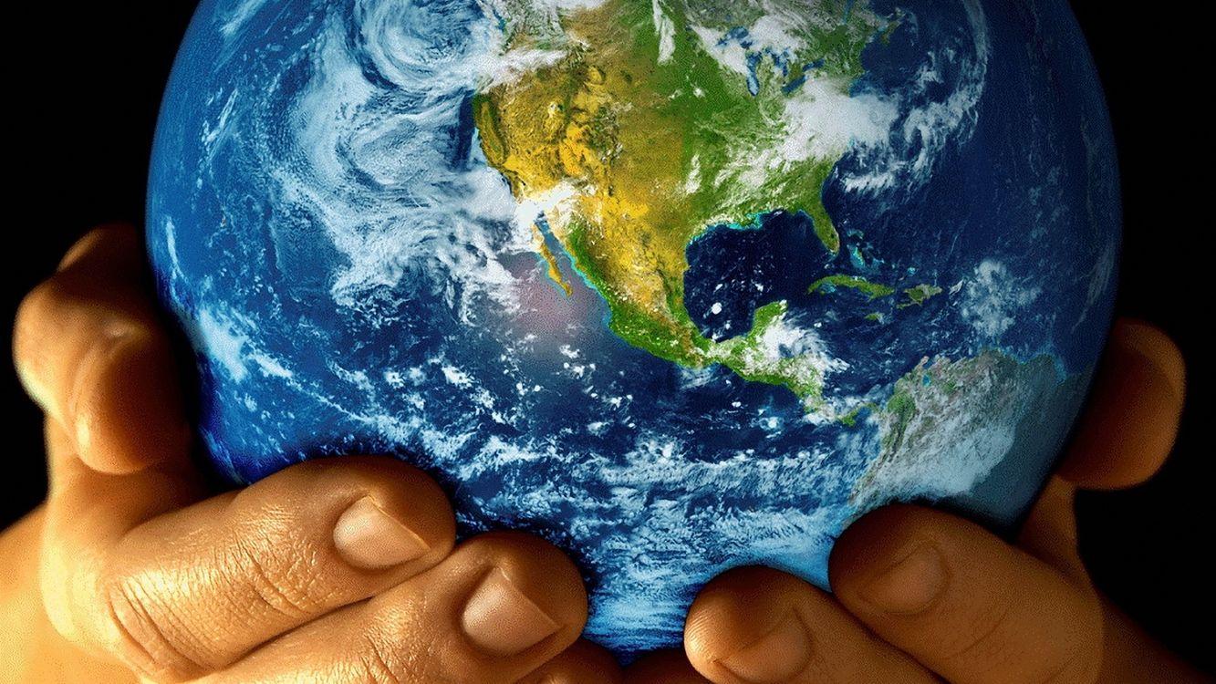 Фото бесплатно руки, ладони, планета - на рабочий стол