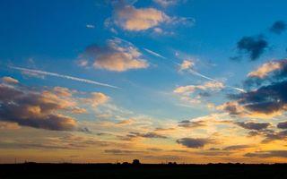 Фото бесплатно синее, небо, облака